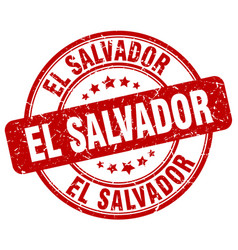 El salvador stamp vector