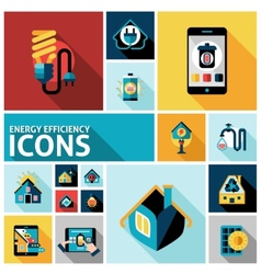 Energy Efficiency Icons Set vector image