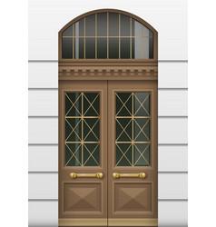 Facade with entrance door vector