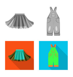 Fashion and garment icon vector