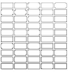 fifty rectangle frames set 1 vector image