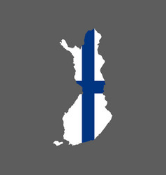 finland flag and map vector image