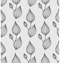 Floral background with stylized leaves vector