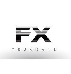 Fx f x black and white horizontal stripes letter vector