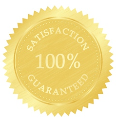 gold guarantee stamp vector image
