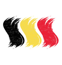 Grunge brush stroke with national flag of belgium vector