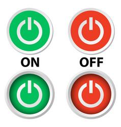 Handle switch button on off on white vector