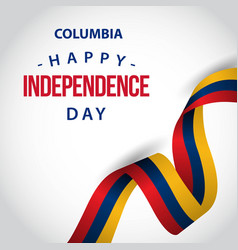 Happy columbia independence day template design vector