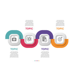infographic design template with 4 options vector image