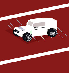 isometric sport car vector image