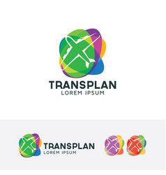 Logo of plane transportation vector