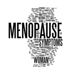 Menopause text background word cloud concept vector