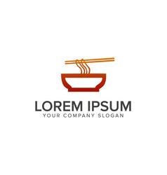 Noodle logo dining logo design concept template vector