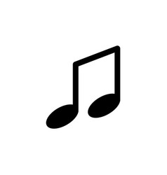 note music icon vector image