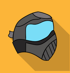Paintball mask icon in outline style isolated on vector