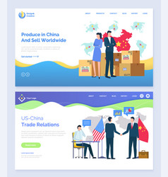 produce in china and sell worldwide usa partners vector image