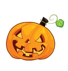 Pumpkin evil vektor vector image