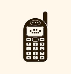 retro vintage mobile phone icon vector image