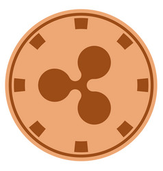 Ripple copper casino chip vector