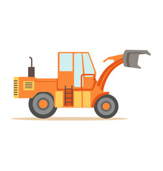 road digger truck machine part of roadworks and vector image