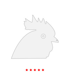 rooster head it is icon vector image