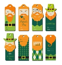 saint Patricks day gift tags vector image