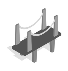 Scaffolding icon isometric 3d style vector image