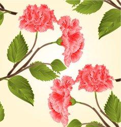 Seamless texture pink hibiscus stem vector image