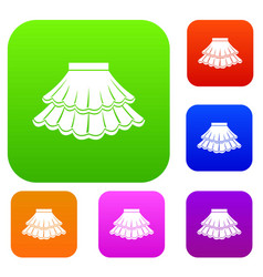 Skirt set collection vector