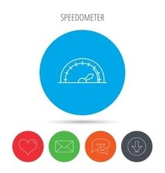 Speedometer icon Speed tachometer with arrow vector image vector image