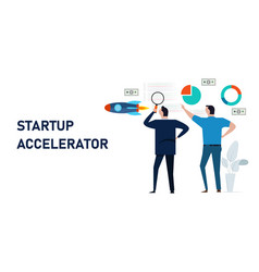 Startup accelerator accelerate small business vector