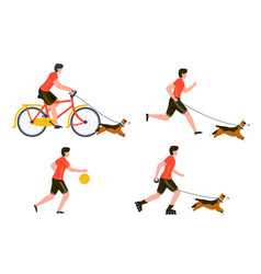 summer sport outdoors activities set vector image