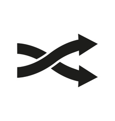 The intersecting arrows icon Exchange and turn vector