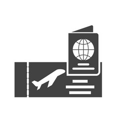 Ticket and passport vector