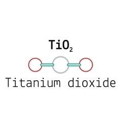 TiO2 titanium dioxide molecule vector