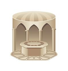Turkish bath hammam isolated on white vector image