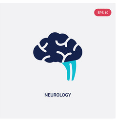 Two color neurology icon from health and medical vector
