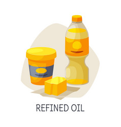 Unhealthy food for brain refined oil butter and vector