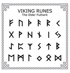 Viking runes - elder futhark alphabet vector