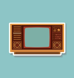 Vintage TV 1 vector image