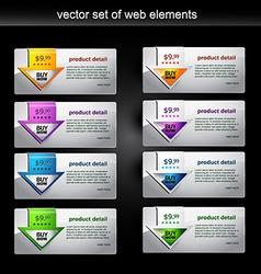 web element set vector image
