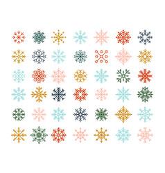 Winter snowflakes christmas logo ice crystal vector