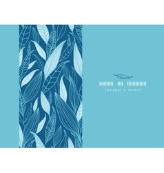 Blue Bamboo Leaves Horizontal Seamless Pattern vector image vector image