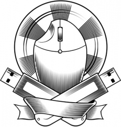 computer mouse cd and USB vector image