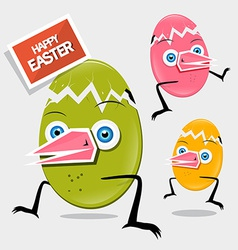 Easter Funny Eggs vector image vector image