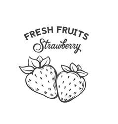 Hand drawn strawberry icon vector