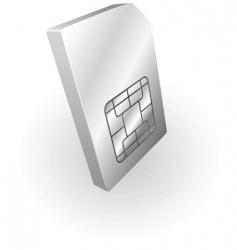 metallic sim card vector image vector image