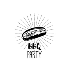 Monochrome Hotdog logo templates and badges for vector image