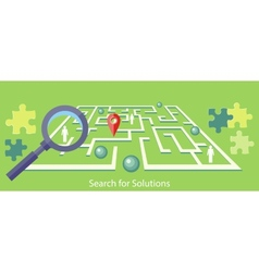 Search for Solution Maze vector image