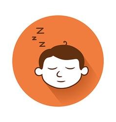 Sleeping head symbol vector
